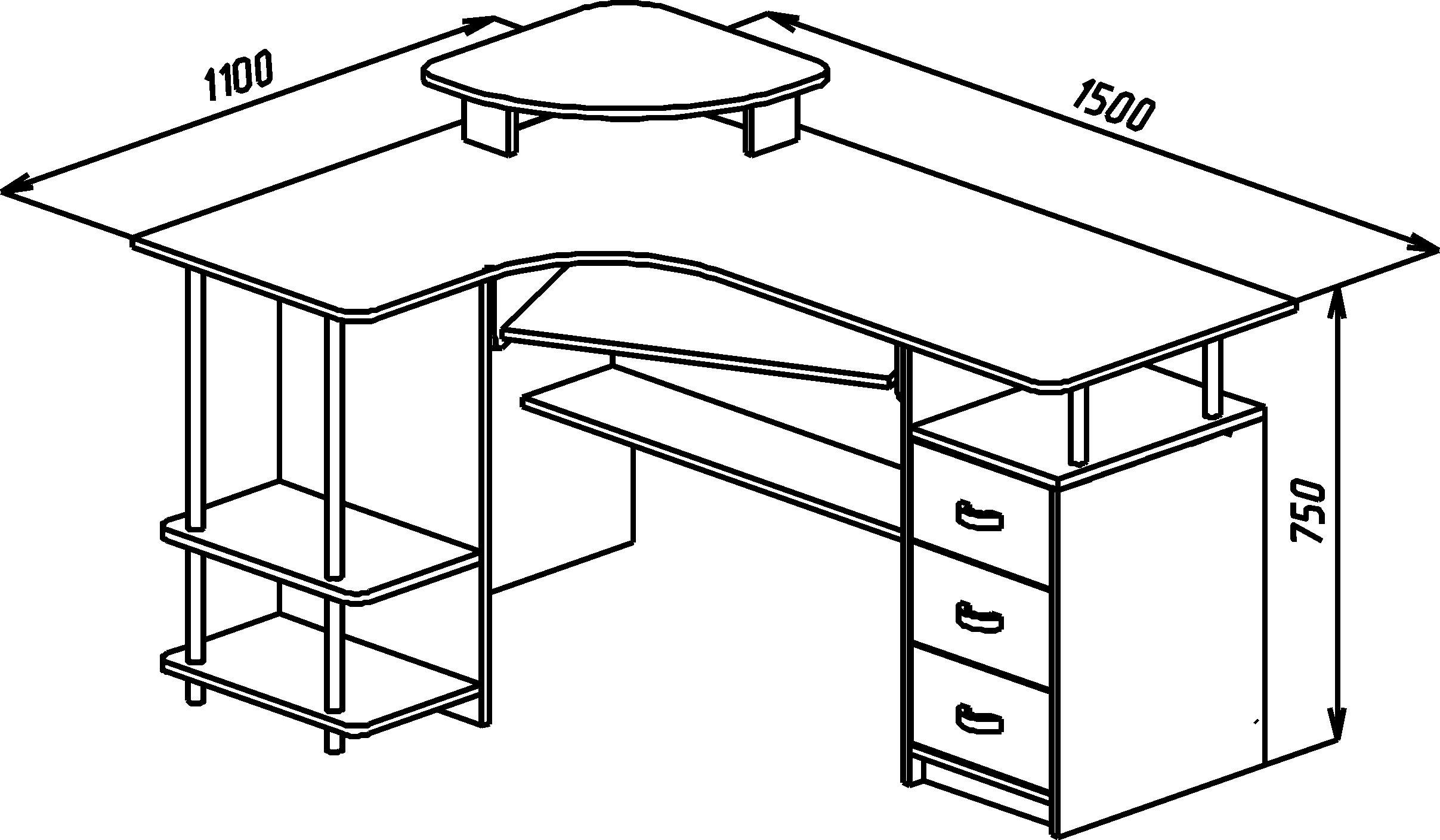 Компьютерные столы компасс (компасс) купить набор 2922.