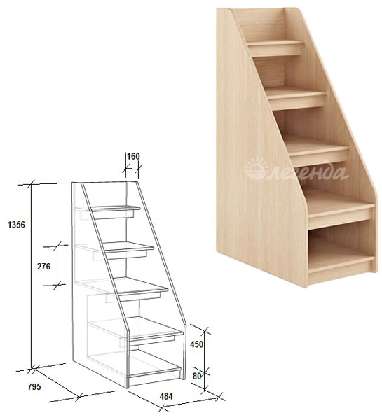 Лестница своими руками для двухъярусной кровати