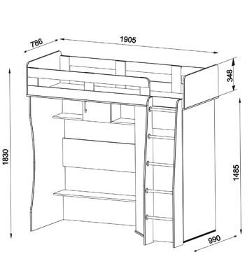 [id:0001] Кровать-чердак