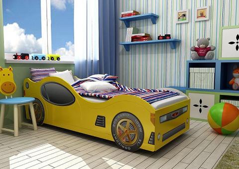 кровать-машина в интерьере фото