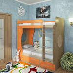 фото  Милана Двухъярусная кровать Милана-1