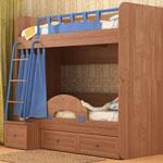 фото  Сканд-Мебель Двухъярусная кровать Немо