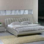 фото  Татами Кожаная кровать 1000