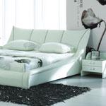 фото  Татами Кожаная кровать 1007