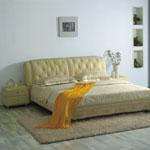 фото  Татами Кожаная кровать 1020