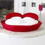 фото  Татами Кожаная кровать 1033
