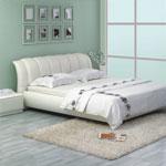 фото  Татами Кожаная кровать 1041