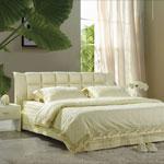 фото  Татами Кожаная кровать 1061
