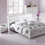 фото  Татами Кожаная кровать 1077