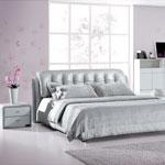 фото  Татами Кожаная кровать 1079
