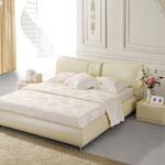 фото  Татами Кожаная кровать 1099
