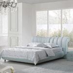 фото  Татами Кожаная кровать 1101