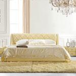 фото  Татами Кожаная кровать 1110