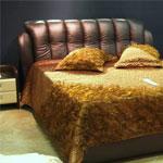 фото  Татами Кожаная кровать 925