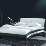 фото  Татами Кожаная кровать 959