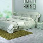 фото  Татами Кожаная кровать 995