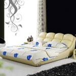 фото  Татами Кожаная кровать AY170