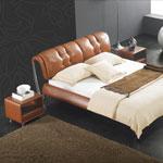 фото  Татами Кожаная кровать AY181