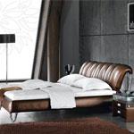 фото  Татами Кожаная кровать AY183