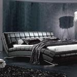 фото  Татами Кожаная кровать AY197