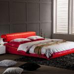 фото  Татами Кожаная кровать AY210