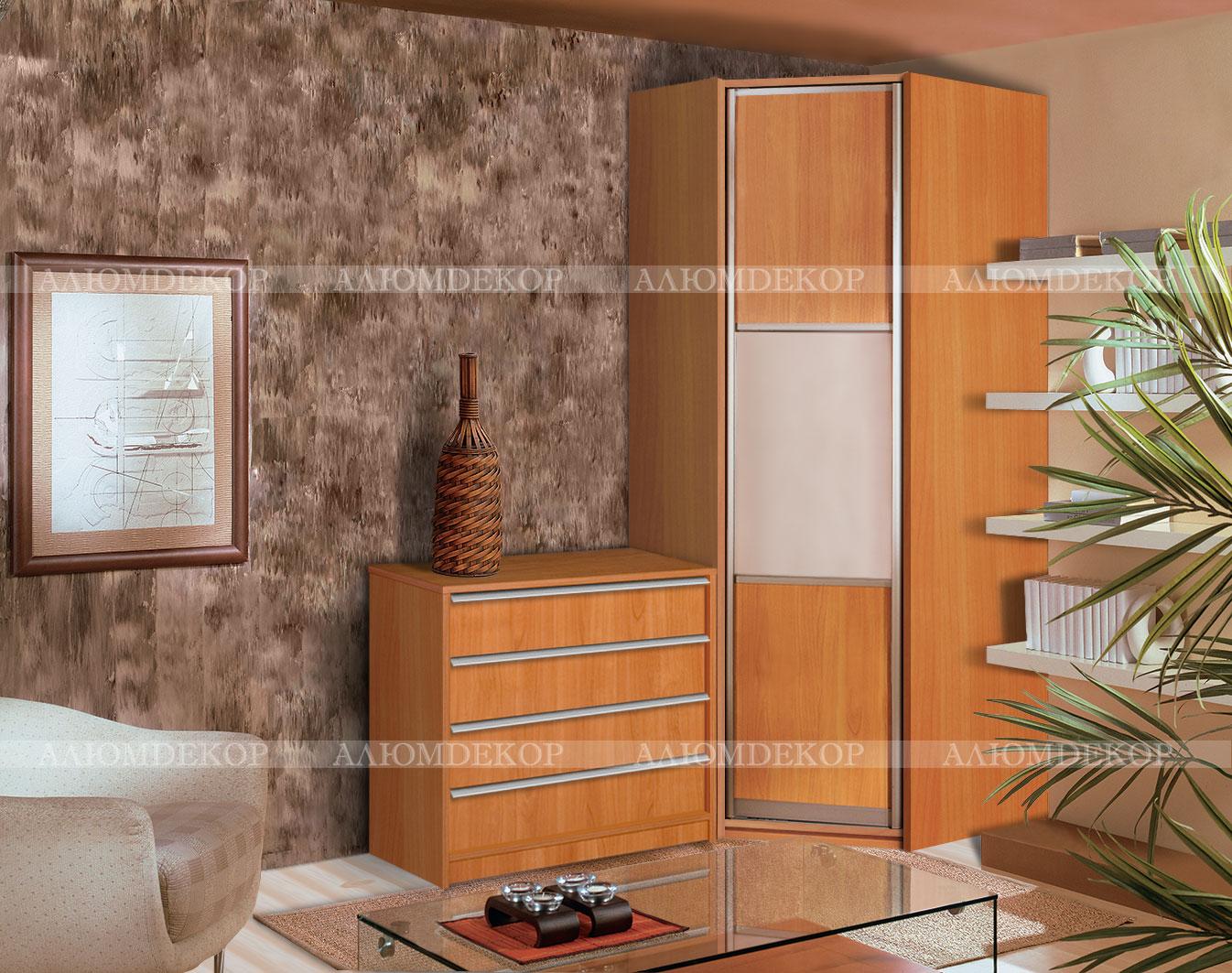 Маленький угловой шкаф в спальню - спальня с угловым шкафом .