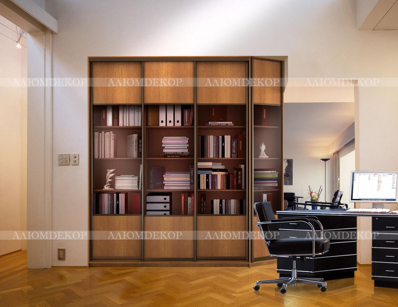 Офисный шкаф купе респект 2 встроенный в нишу.