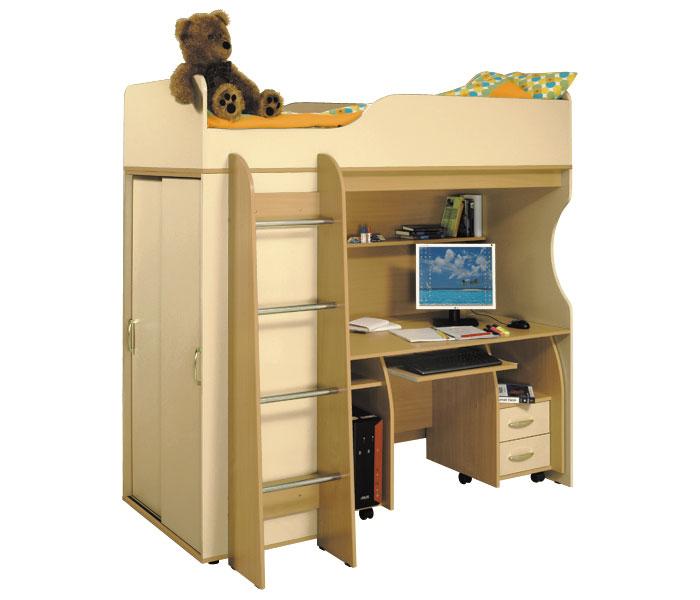 Детская кровать со шкафом и с письменным столом festima.ru -.