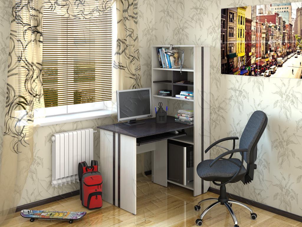 Угловой компьютерный стол - 100 фото идей как оформить в инт.