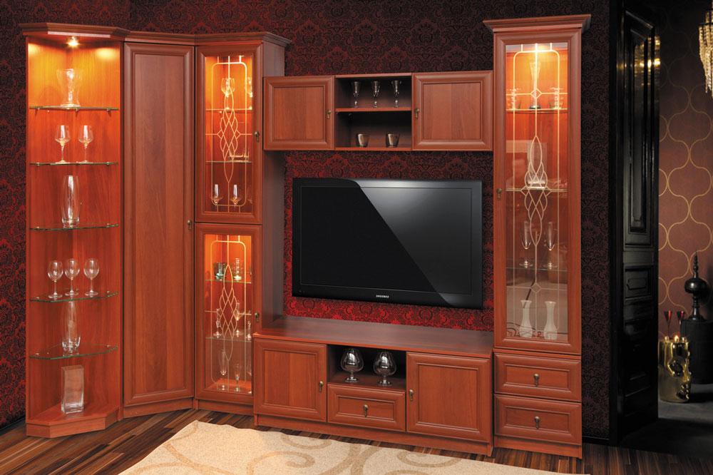 Гостиная неаполь (олмеко (олимп-мебель)) купить набор 5606.